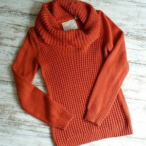 Anthropologie Angel of North waffle knit sweater